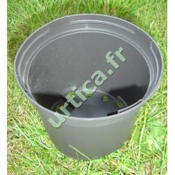 Conteneur 2 litres en plastique injecté noir mat