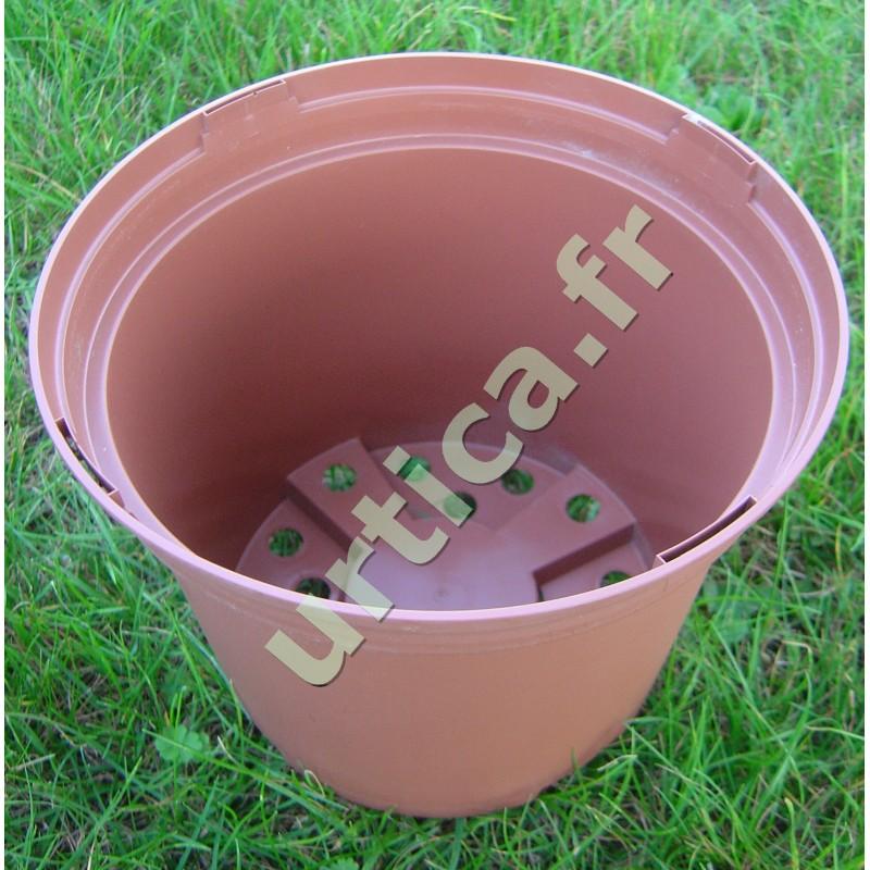 conteneur 4 litres en plastique inject couleur terre cuite boutique jardinage. Black Bedroom Furniture Sets. Home Design Ideas