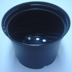 Conteneur 1 litre en plastique injecté noir mat