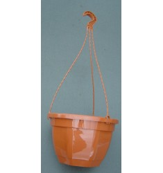 Pot et tringle coloris TERRE CUITE 4,7L pour suspension florale