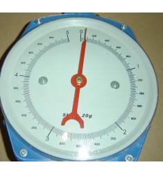 Peson dynamométrique à cadran 5kg max, gradué à 20g