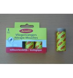 4 rubans attrape-mouches englués Aeroxon