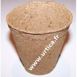 30 pots de semis biodégradables (tourbe et bois) ronds 6cm