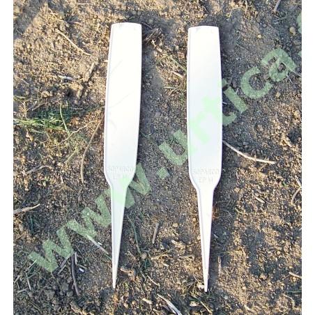 20 étiquettes semis rigides 14 cm  (marquage feutre)