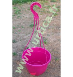 Pot et tringle Fuchsia 3L pour suspension florale