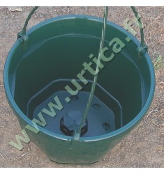 Pot et tringle VERT 3L pour suspension florale