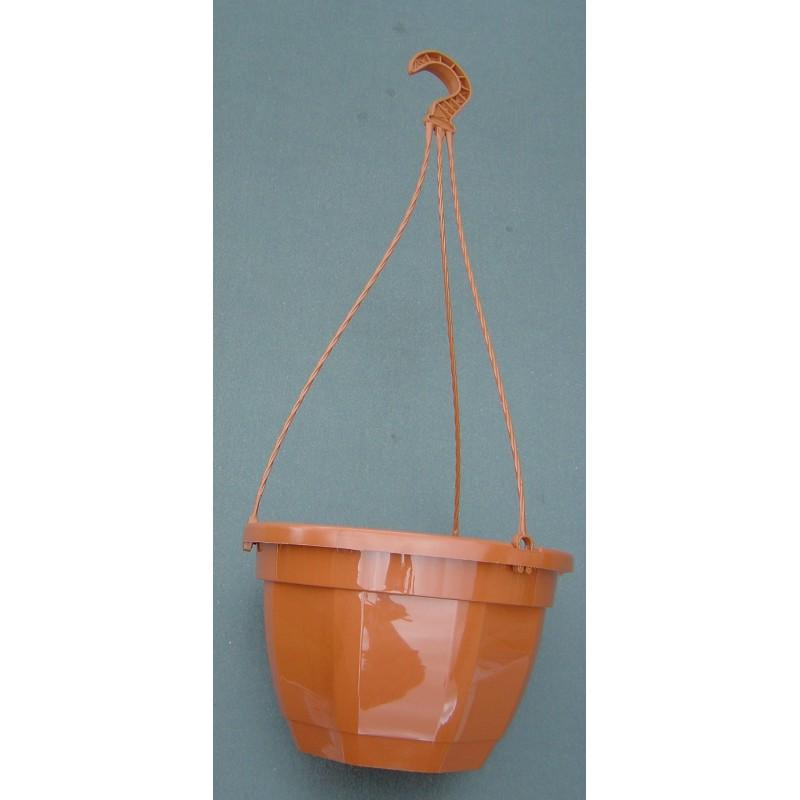 Pot et tringle TERRE CUITE 4,7L pour suspension florale