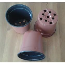 Pot de semis rond bicolore thermoformé 13 * 11,5cm vendu à l'unité