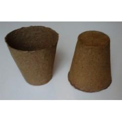 30 pots de semis biodégradables (tourbe et bois) ronds 8cm
