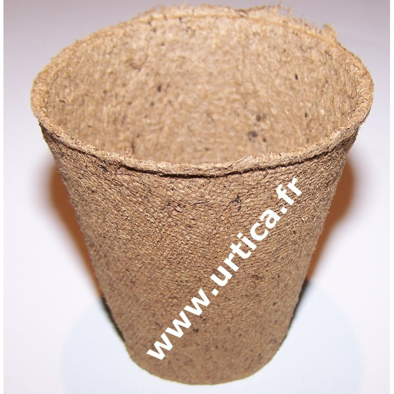 Lot de 30 pots semis biodégradable (tourbe/bois) ronds 6cm