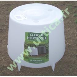 Cloche horticole à lever 24cm x 15 cm pour salades, petits pois, haricots