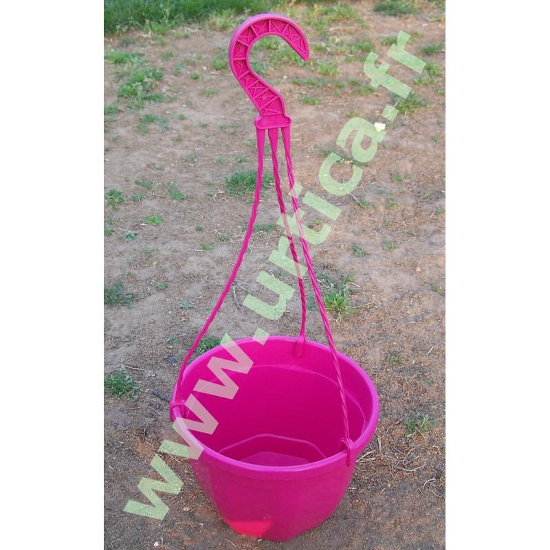 Pot et tringle Fuchsia 3L pour suspension florale