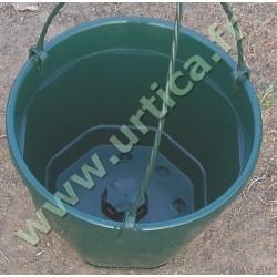 Pot et tringle VERT 3L pour suspension florale
